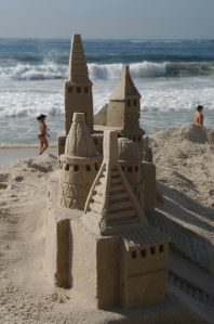 Sandcastle on Copacabana Beach