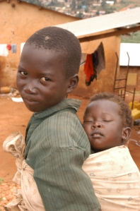 Children in the Acholi Quarter of Kampala, Uganda