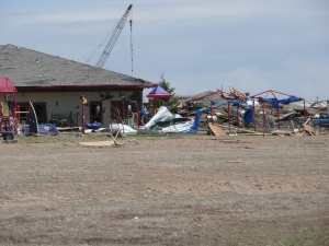 Windmill Child Enrichment Center destroyed during Windsor, Colorado tornado.