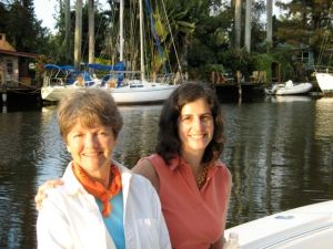 """Deborah Sharp (left) is the author of """"Mama Does Time."""""""