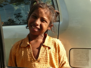 Beggar Girl in Old Delhi