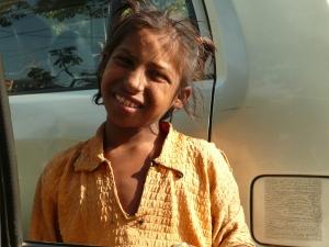 Beggar Girl in Old Delhi